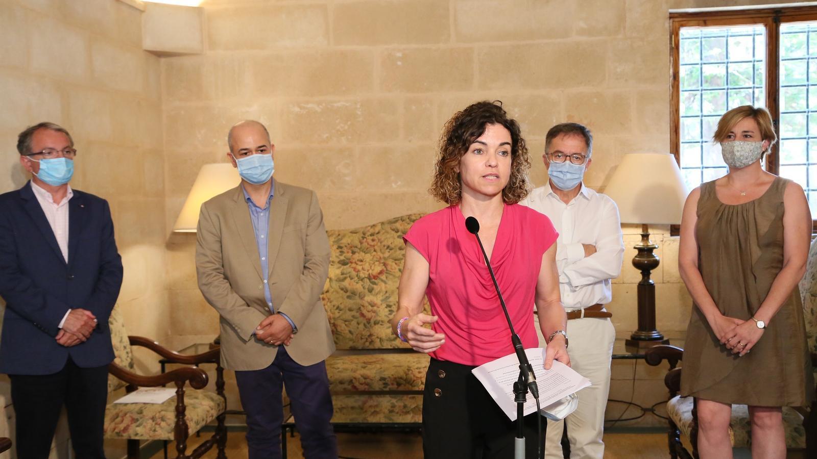 La consellera d'Hisenda i Relacions Exteriors, Rosario Sánchez, a la roda de premsa d'aquest dimecres