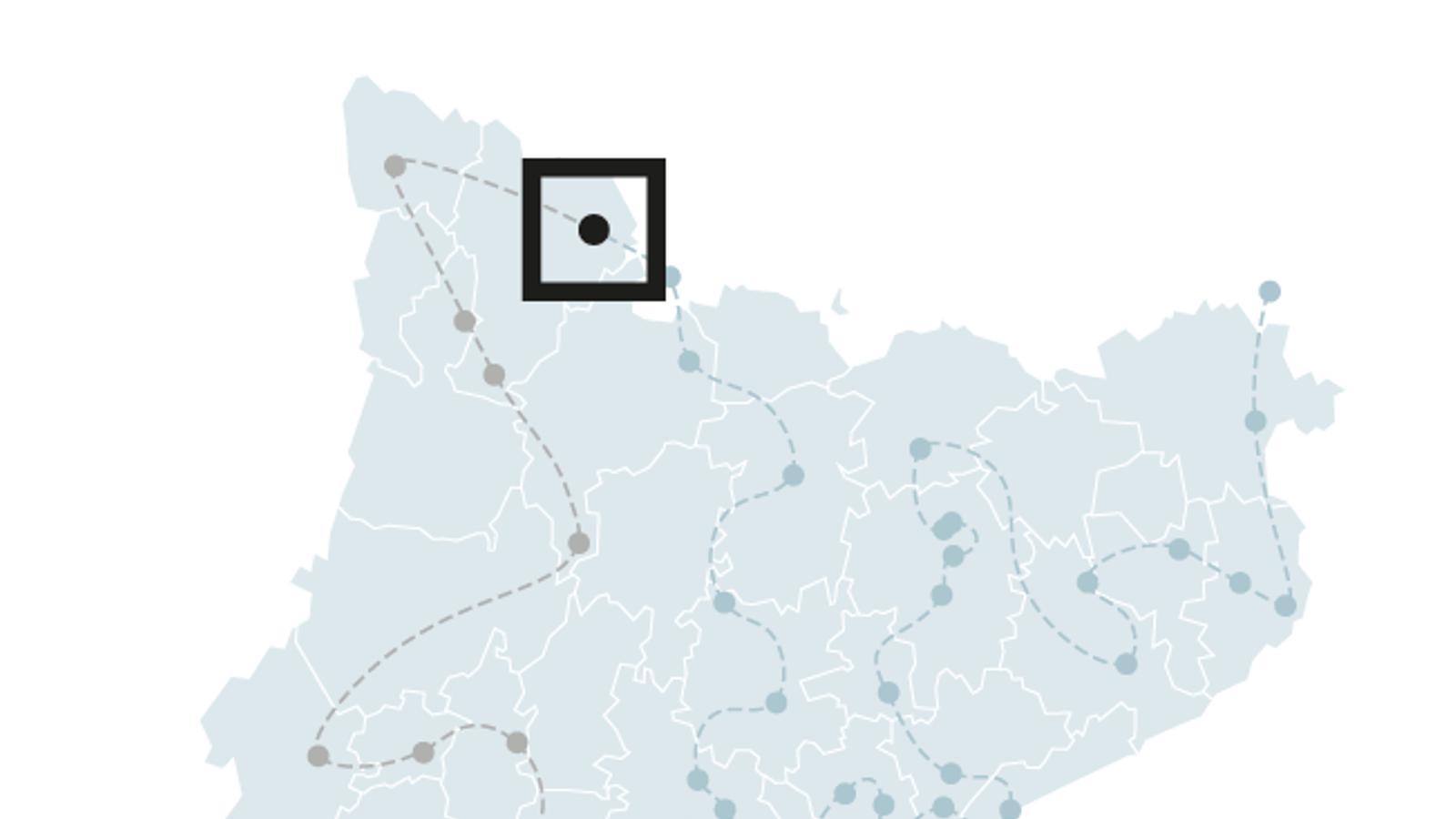 Localització de la serradora d'Àreu.