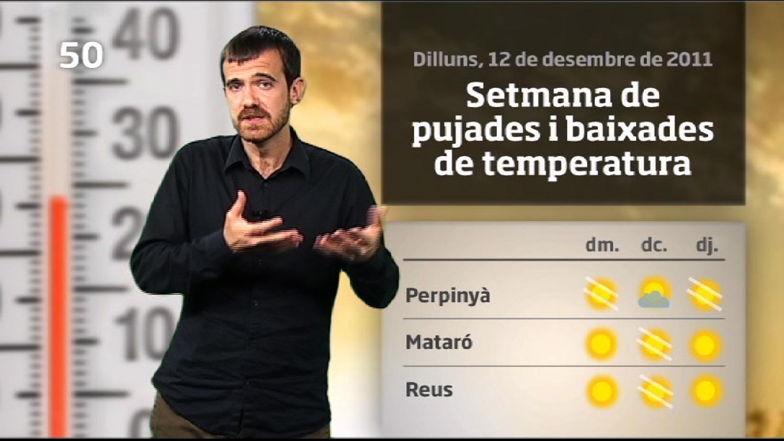 La méteo en 1 minut: setmana amb pujades i baixades de temperatura (13/12/2011)