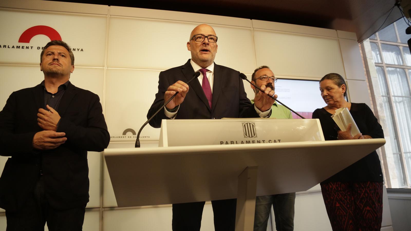 Junts pel Sí i la CUP presenten la llei de transitorietat jurídica