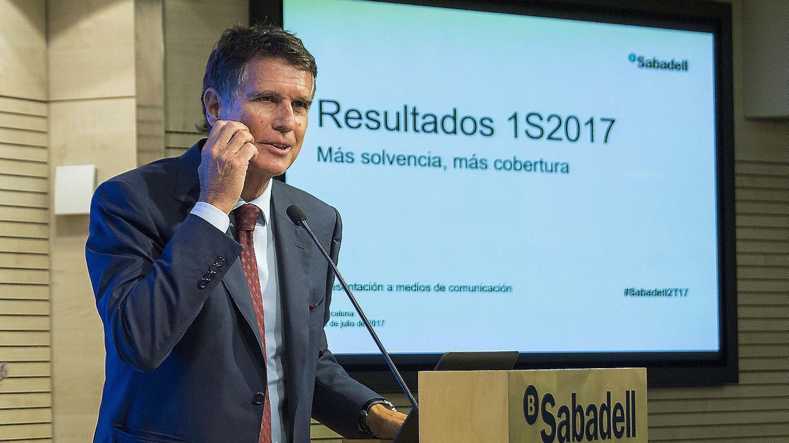 Els beneficis del Sabadell cauen un 67% pels problemes informàtics del TSB