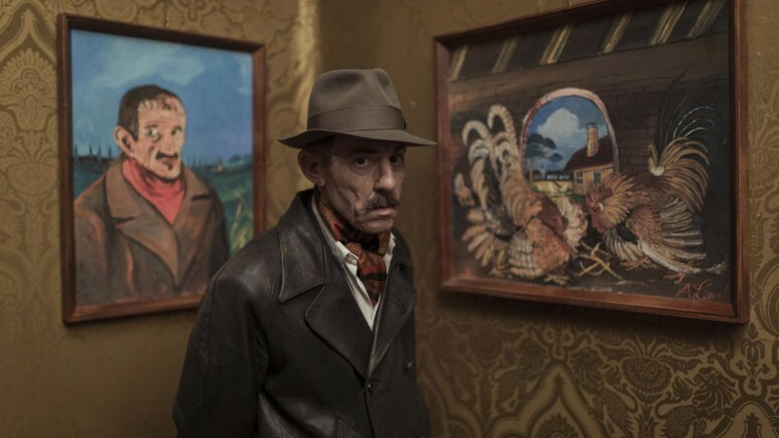Elio Germano com Antonio Ligabue a 'Volevo nascondermi'