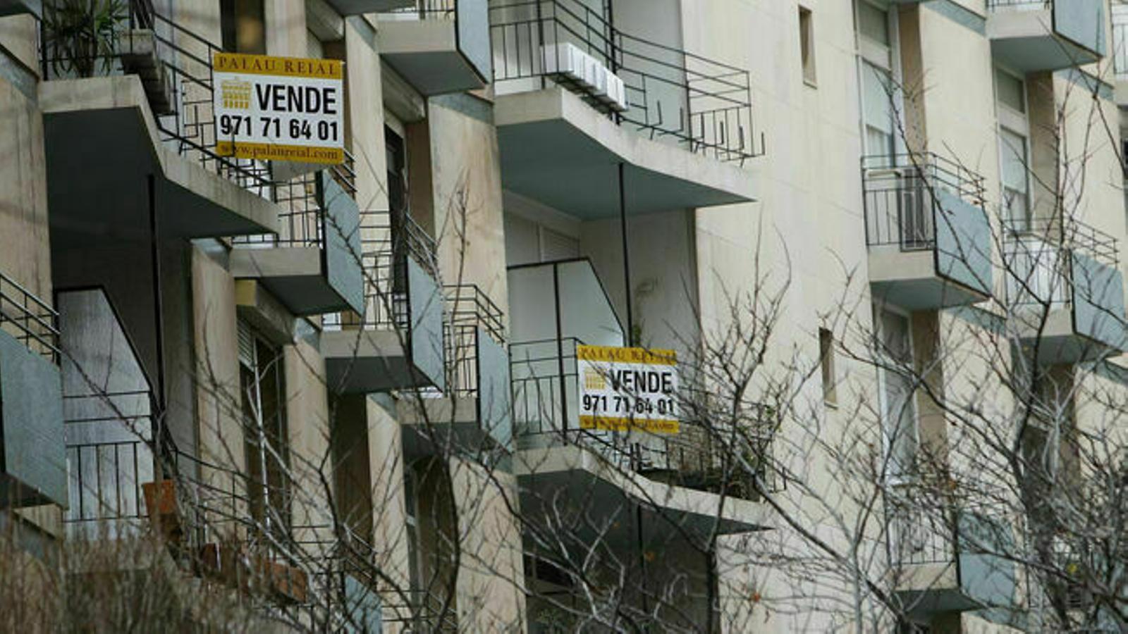 La signatura d'hipoteques d'habitatges baixa un 16,6% a les Balears el novembre