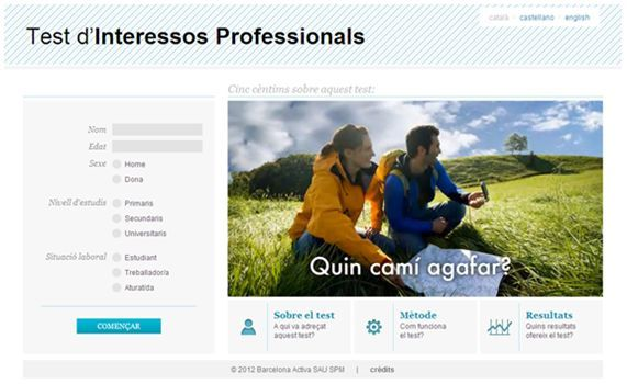 Nou Test d'Interessos Professionals