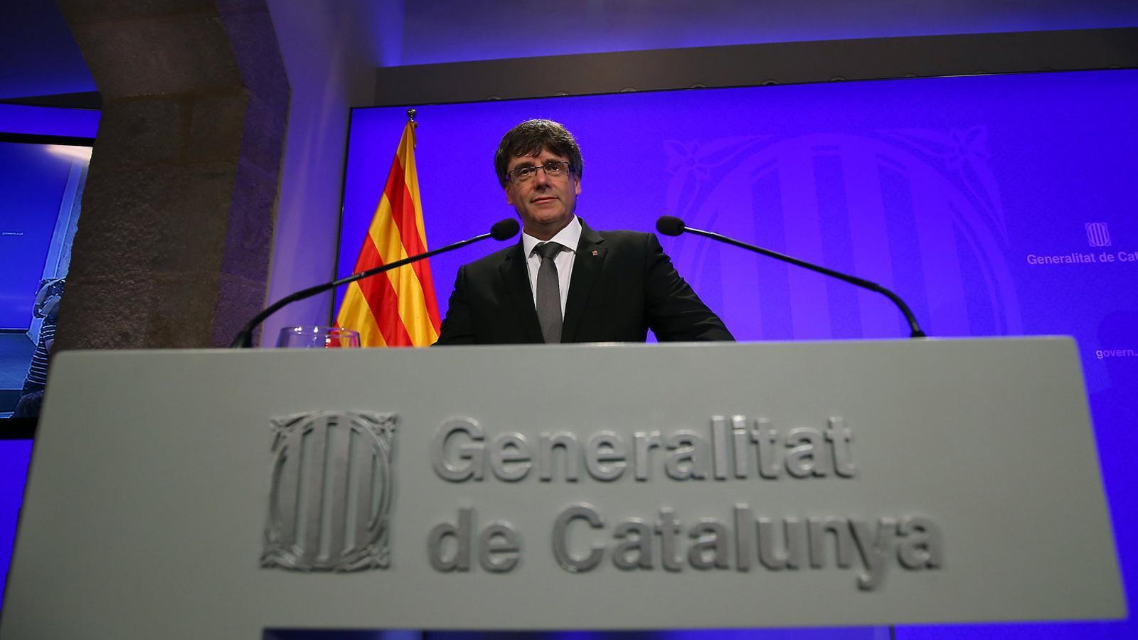 Puigdemont avisa que desobeirà el Constitucional si l'inhabilita