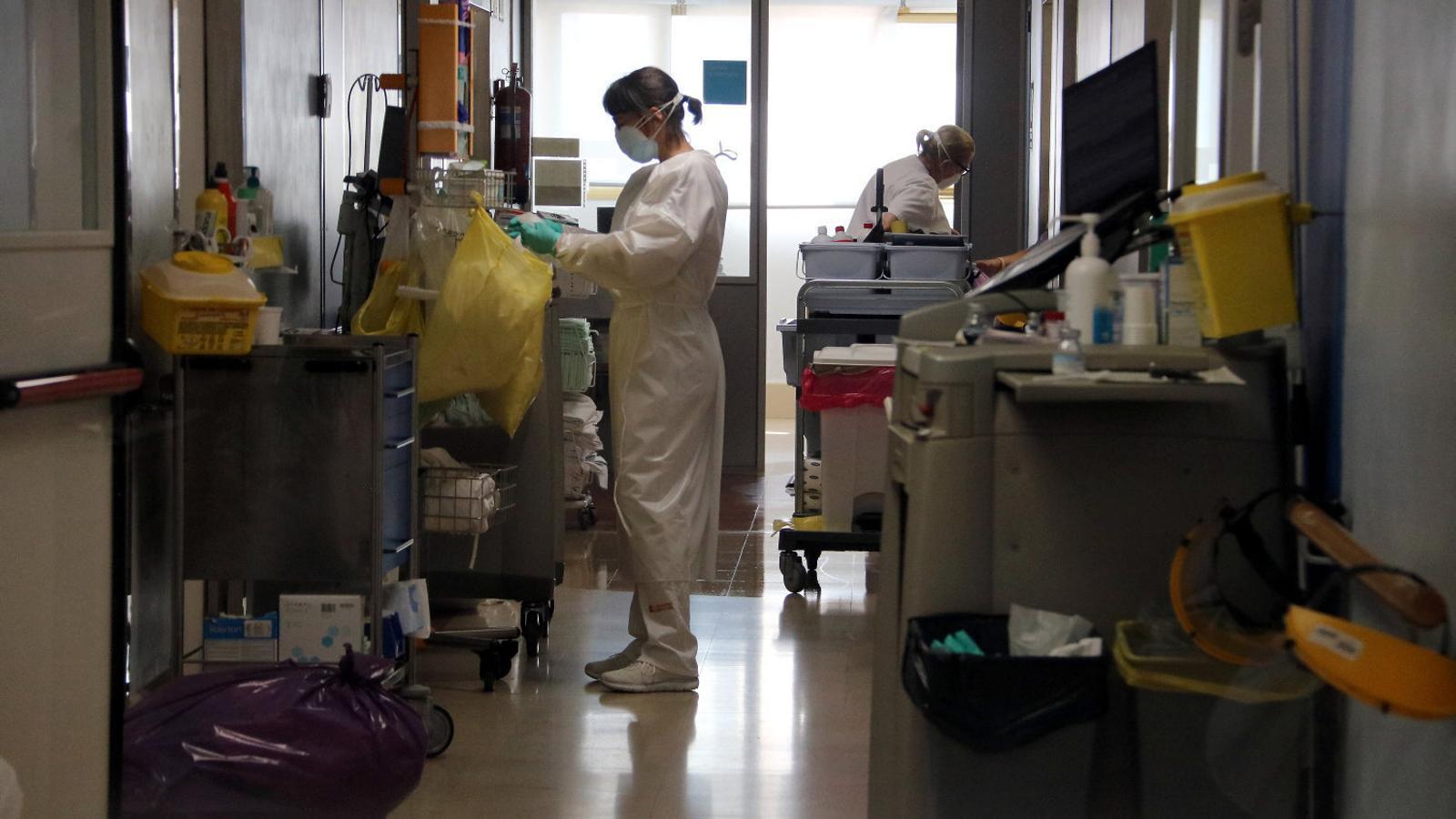L'Hospital de Palamós té quaranta pacients amb covid-19.