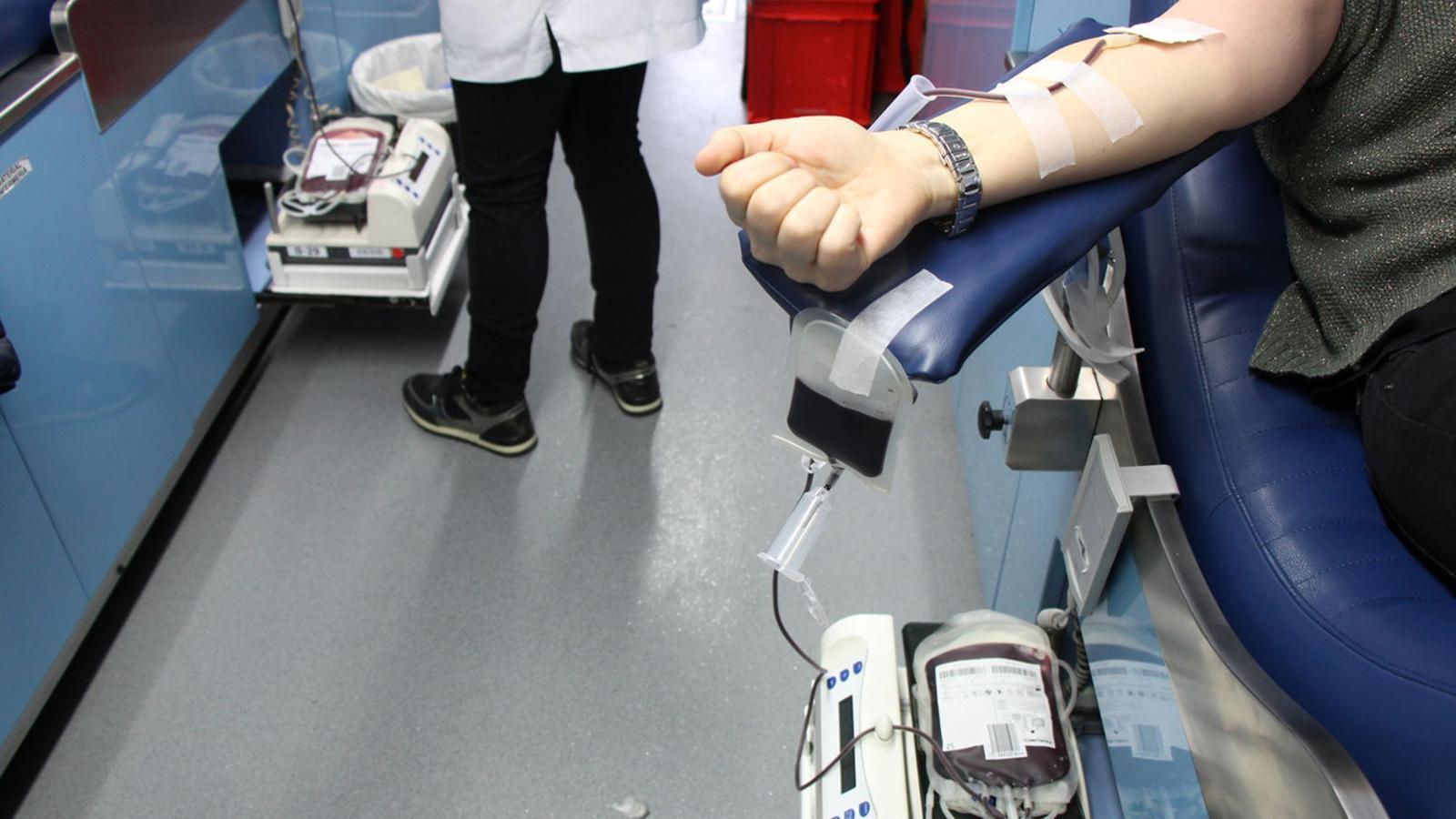 Una campanya de donació de sang. / Arxiu ANA