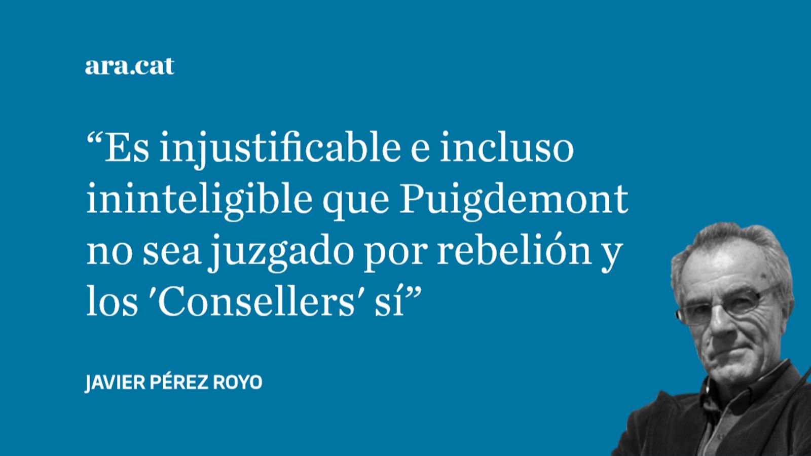 Sin Puigdemont no hay juicio por rebelión