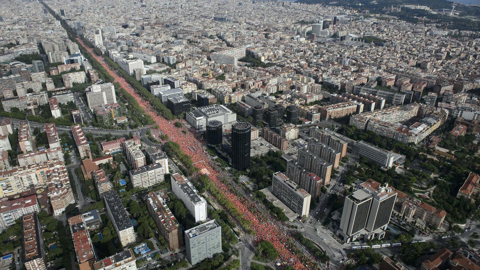 Imatge de la manifestació de la Diada