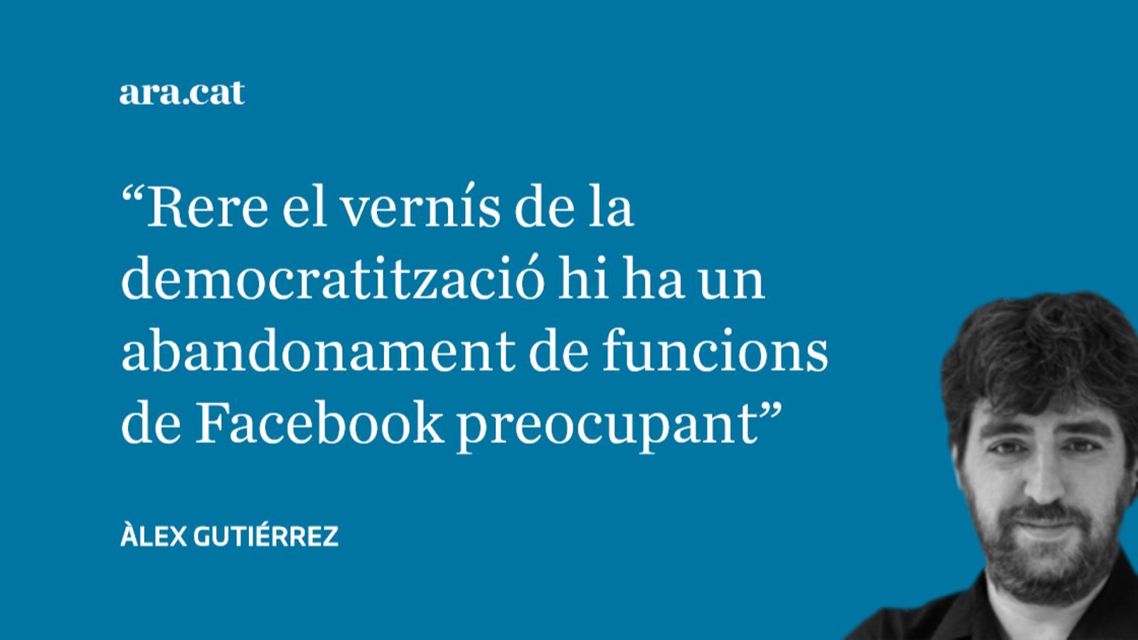 La penúltima de Facebook contra els grans diaris: pareu màquines