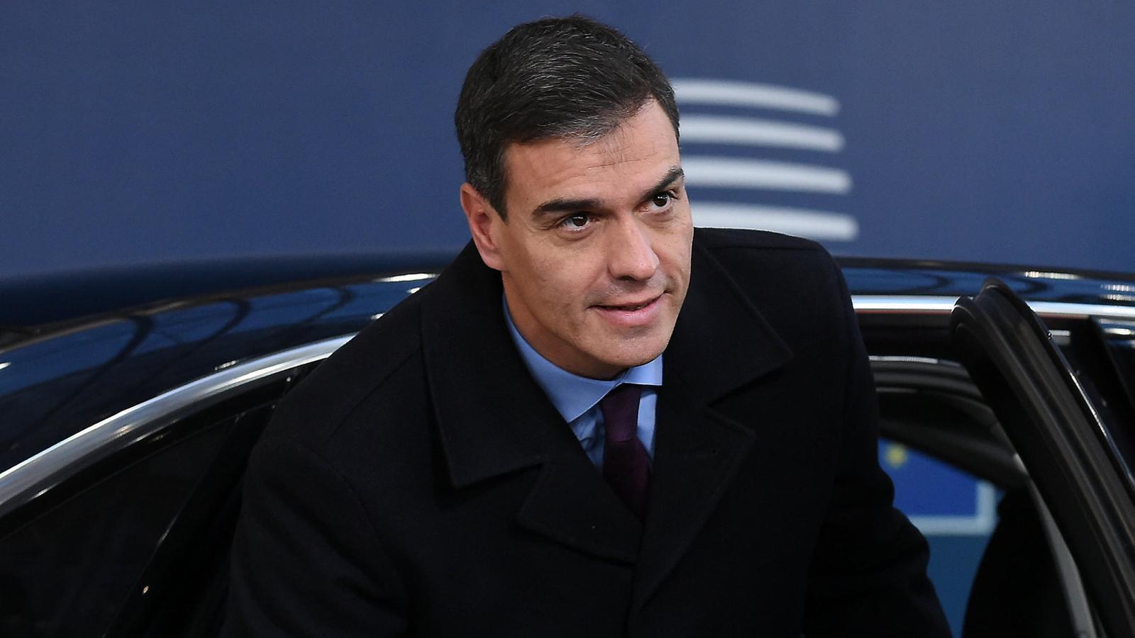 El president del govern espanyol, Pedro Sánchez, ahir a Brussel·les.