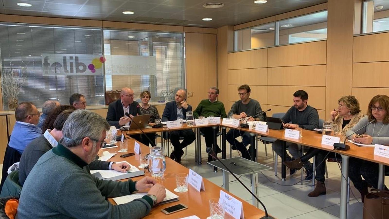 Reunió entre els representants de la FELIB.