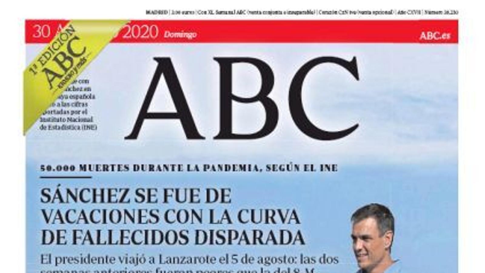 portada abc 30/08/20