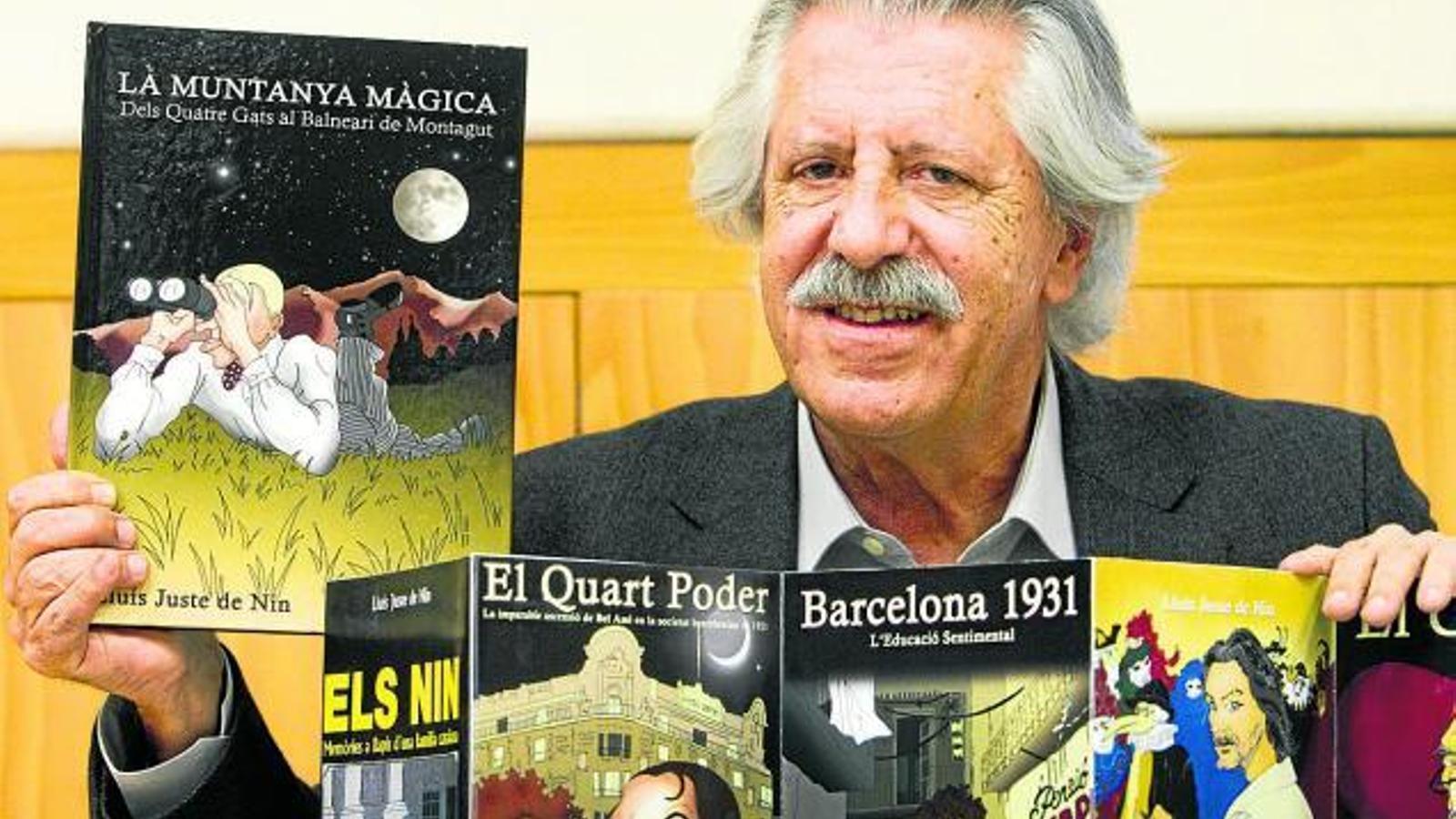 Mor Lluís Juste de Nin, un referent del còmic català