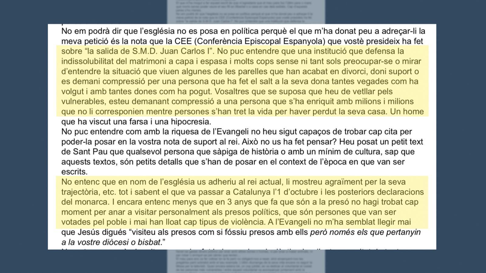 L'anàlisi d'Antoni Bassas: 'La carta d'Isabel Turull, en la mort d'Hilari Raguer'