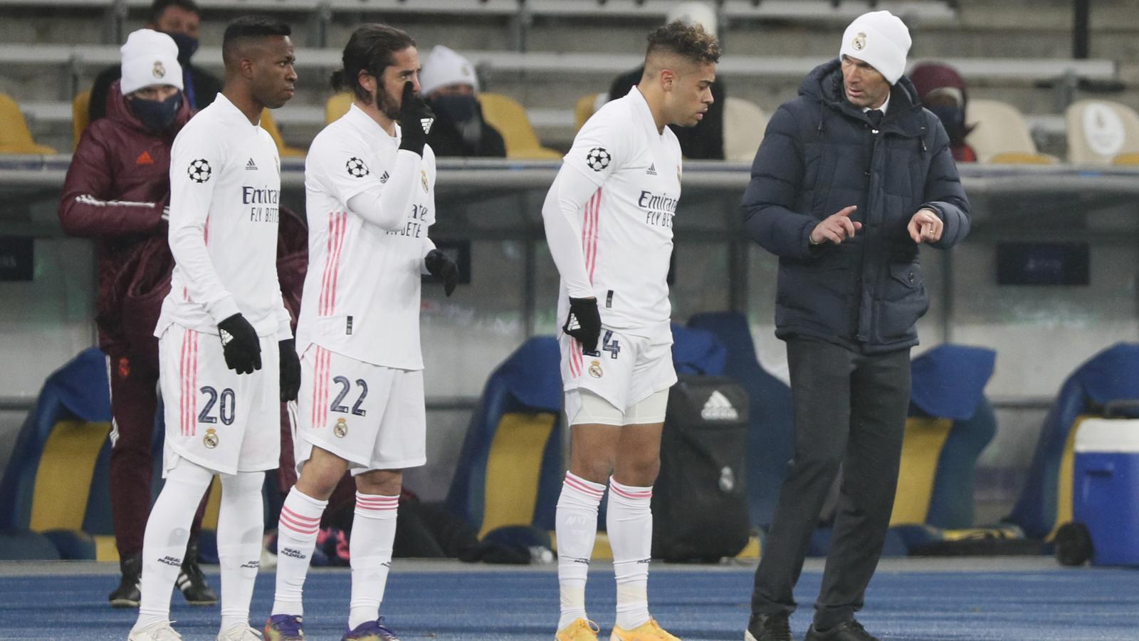 Vinícius, Isco, Mariano i Zidane