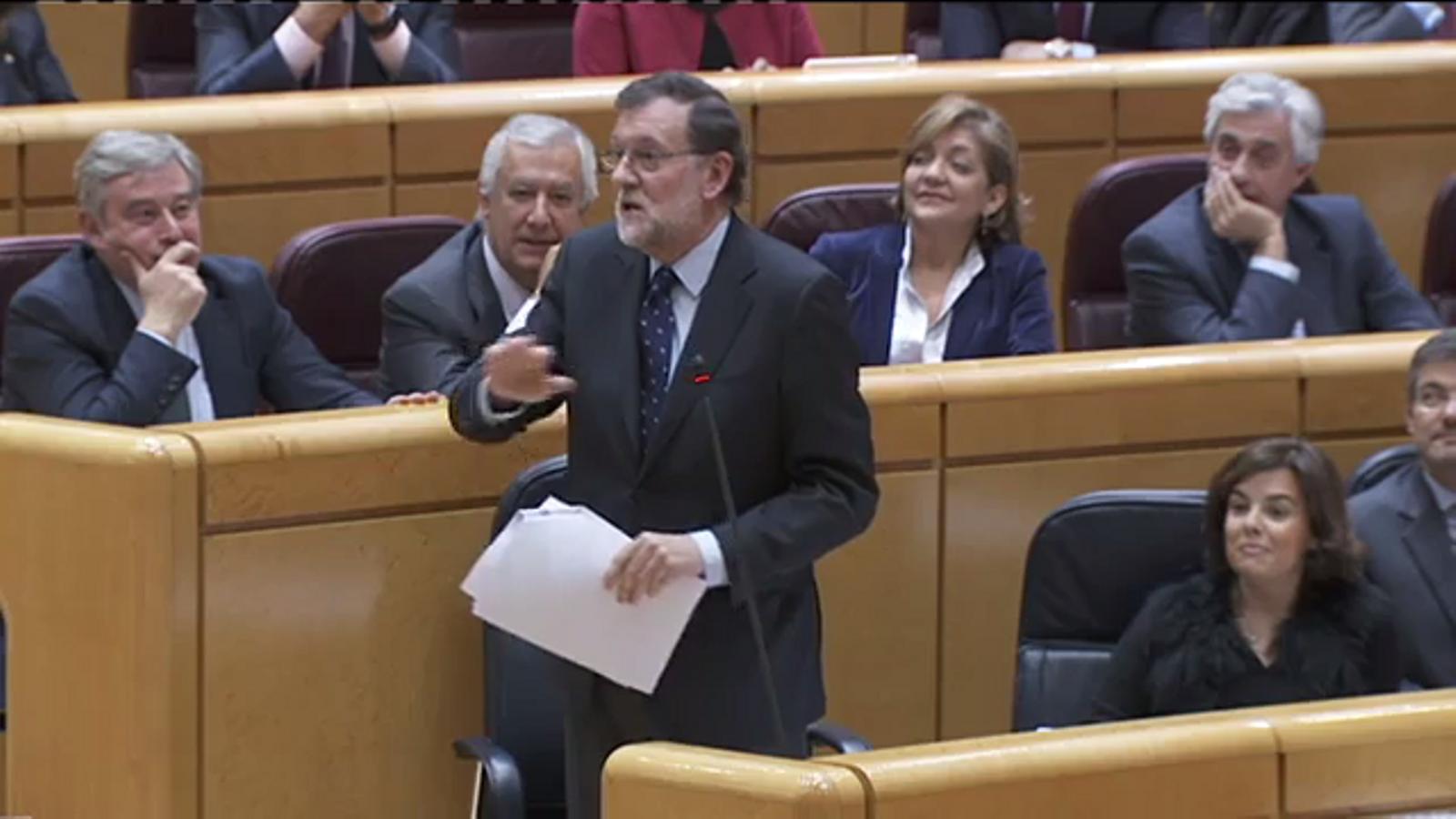 Pregunta de Mirella Cortès (ERC) a Rajoy sobre l'operació Catalunya durant al sessió de control al Senat