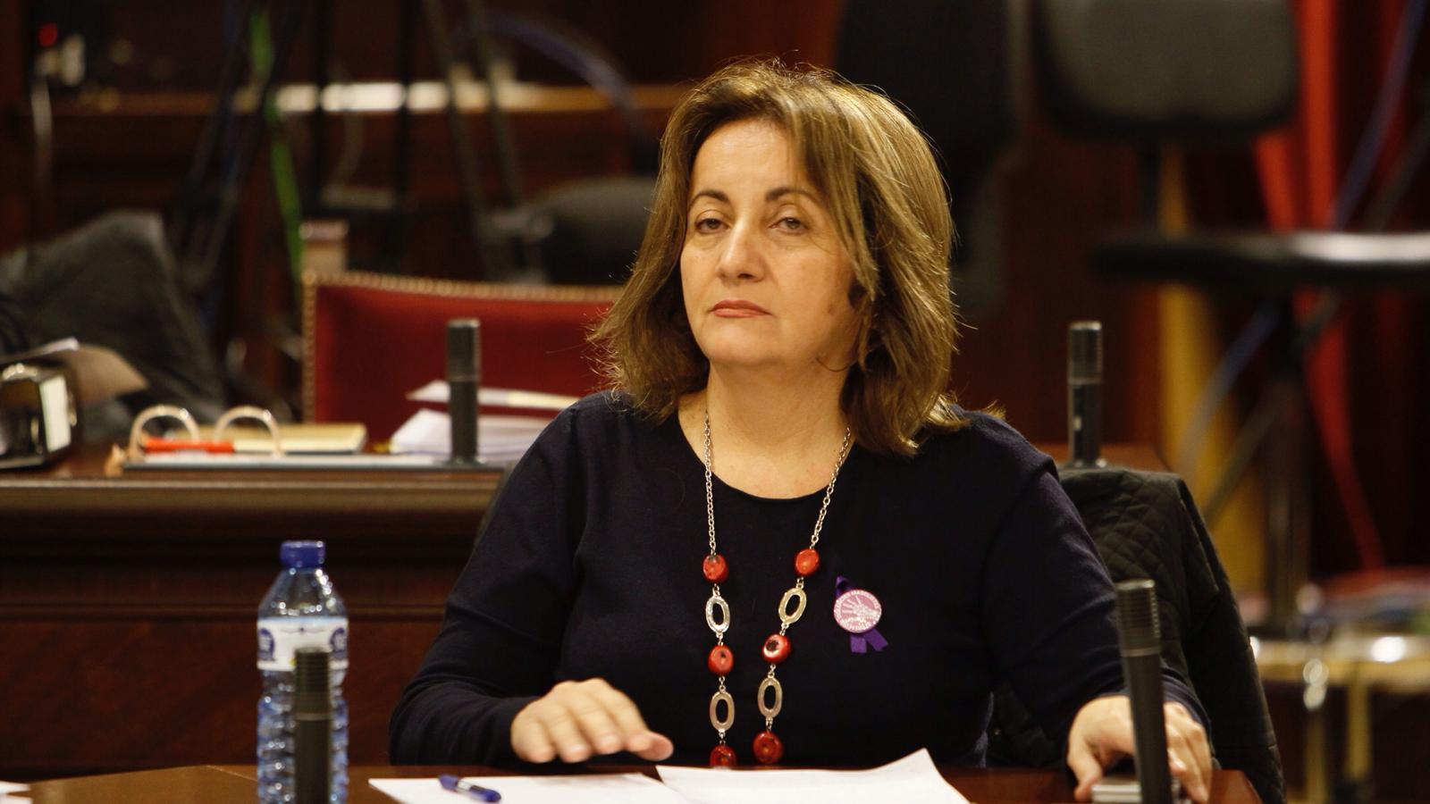 La consellera de Cultura, Participació i Esports, Fanny Tur, aquest dimarts, al Parlament.