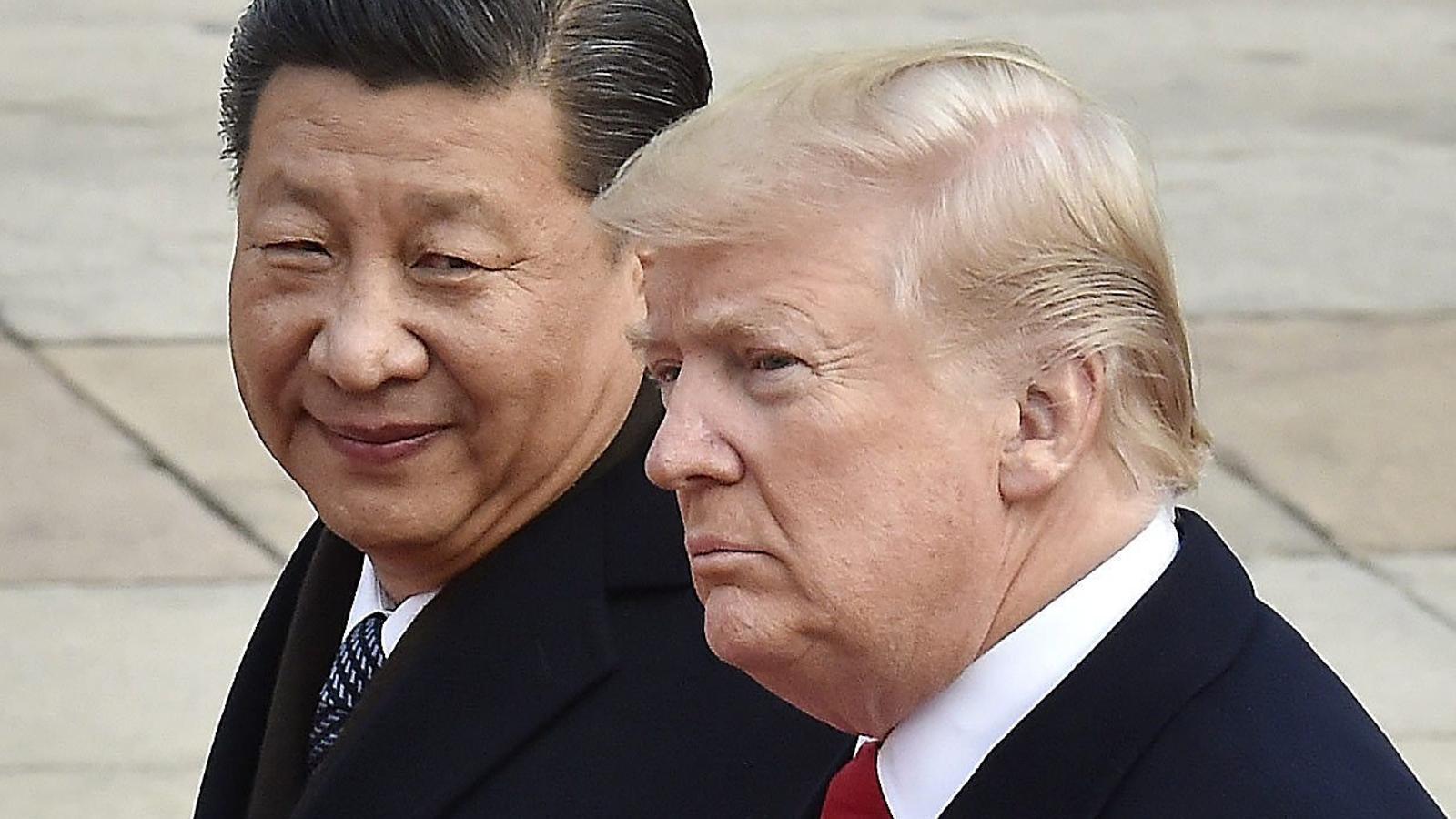 El president de la Xina, Xi Jinping, i el president dels Estats Units, Donald Trump, durant una trobada al mes de març.