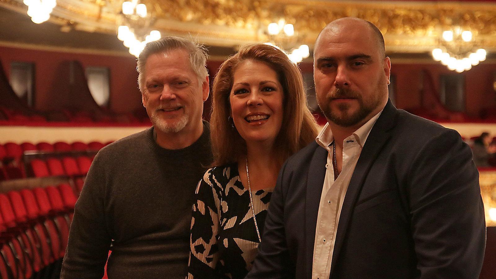 D'esquerra a dreta: Gregory Kunde, Sondra Radvanovsky  i Gabriele Vivani. / LICEU
