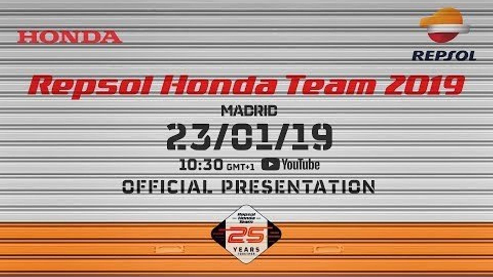 La presentació de l'equip Repsol Honda de MotoGP, en directe