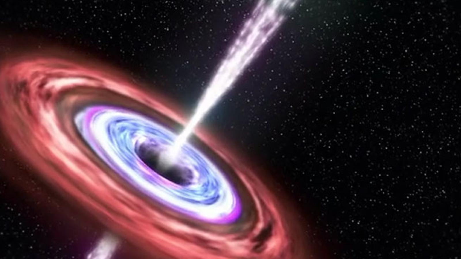 Reconstrueixen com un forat negre es menja una estrella