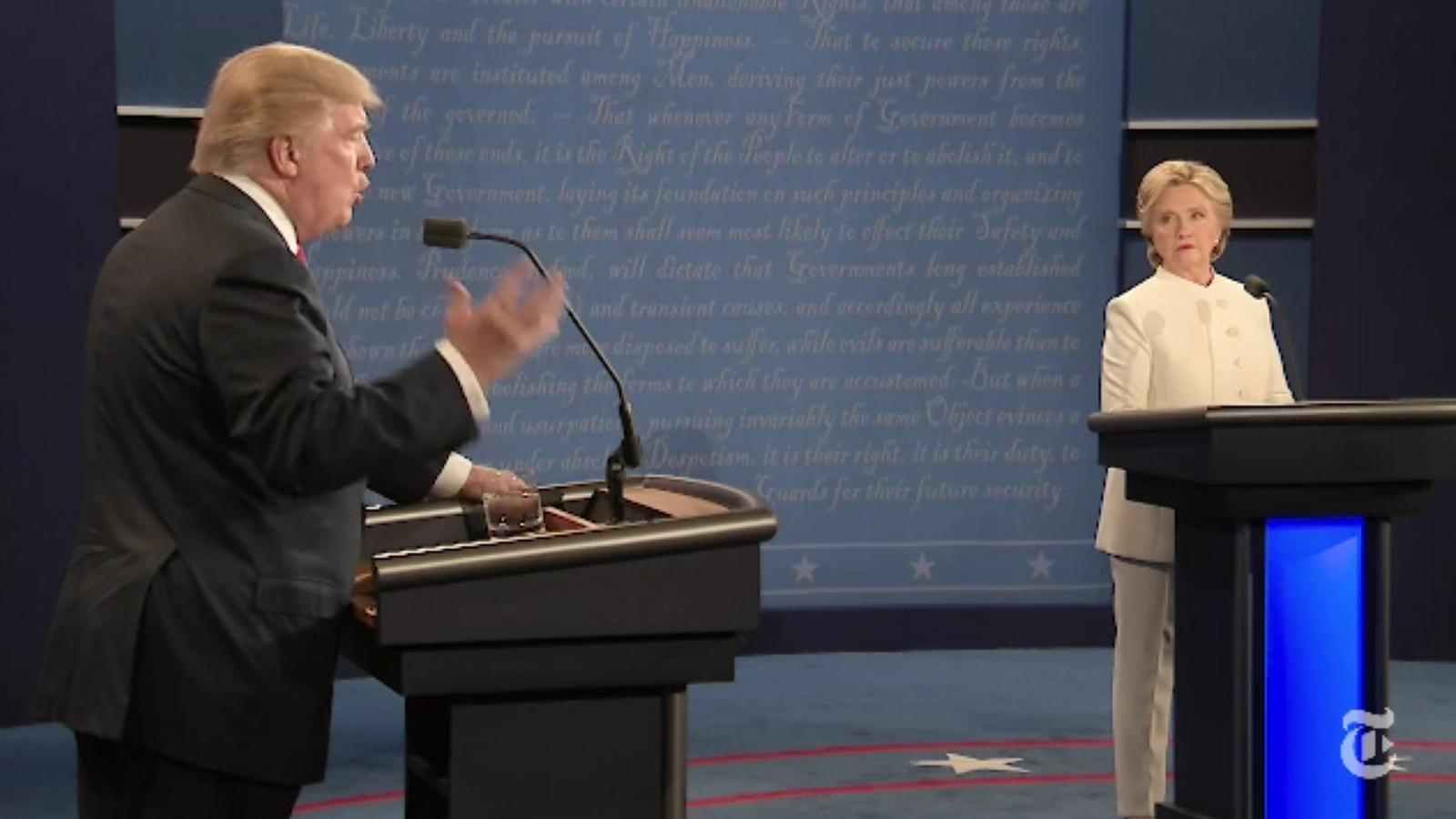 Els cinc temes més calents de l'últim cara a cara Clinton-Trump