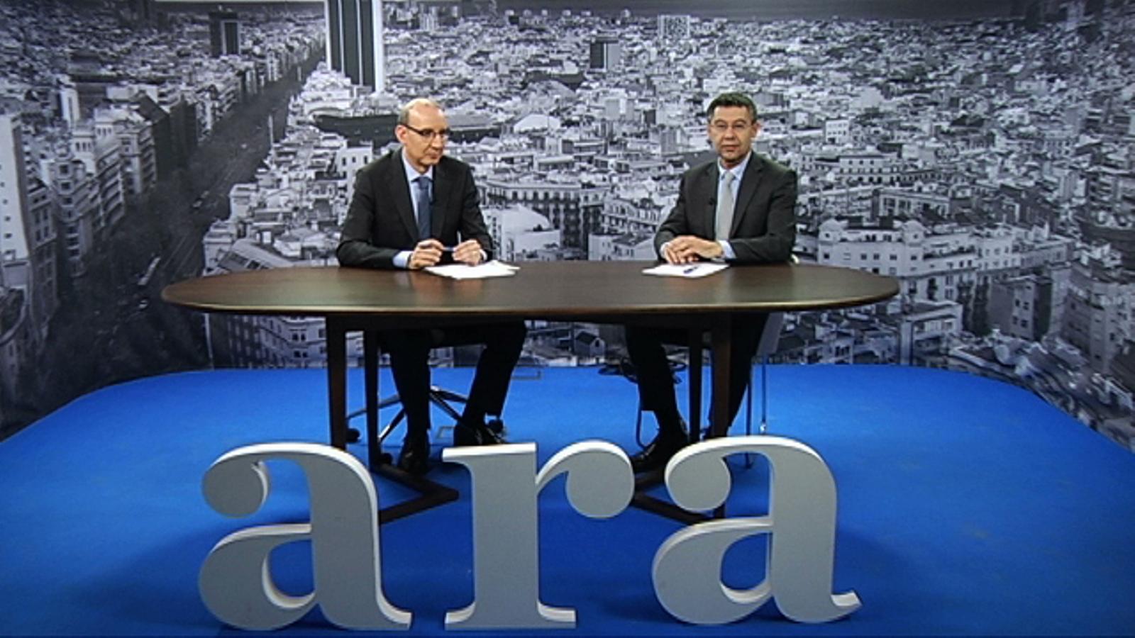 Entrevista d'Antoni Bassas a Josep Maria Bartomeu: Hem de posar el Camp Nou a l'alçada dels grans estadis europeus