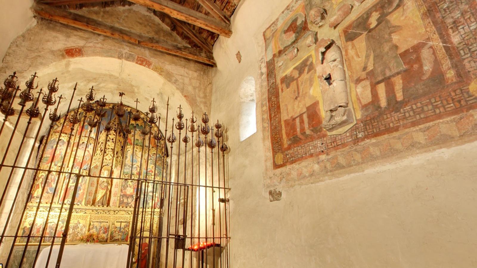 L'interior de l'església de Sant Joan de Caselles. / ARXIU ANA