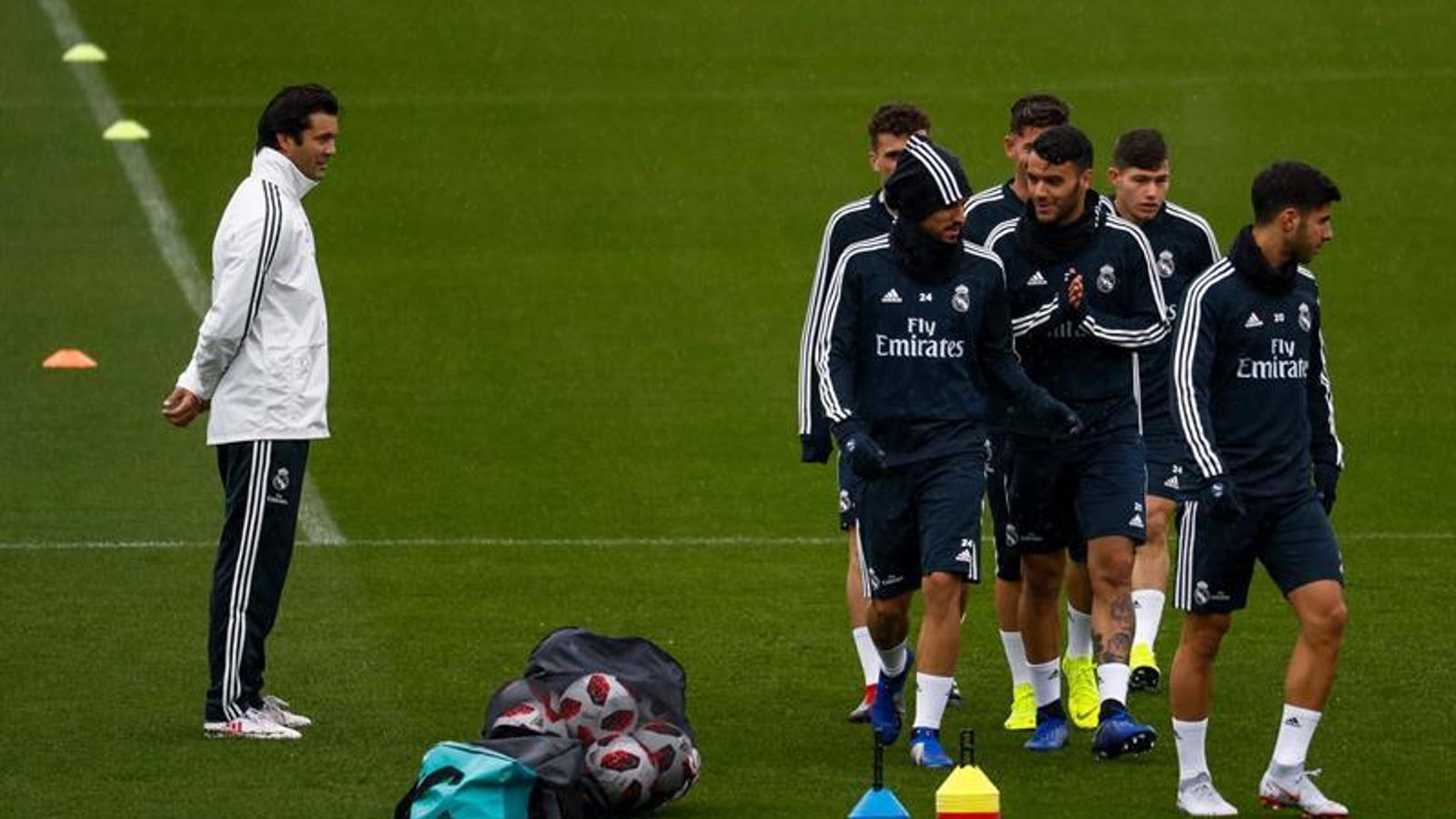 Solari ha dirigit el primer entrenament amb el primer equip del Reial Madrid