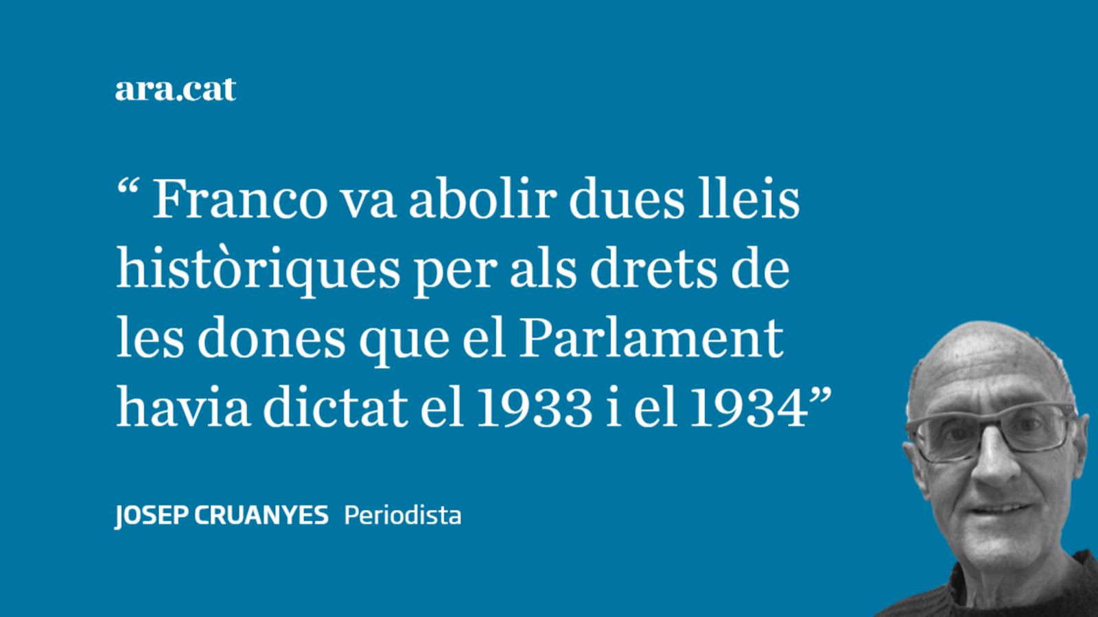 Fa 80 anys les dones catalanes van perdre els drets