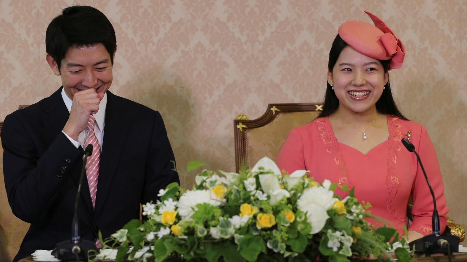 La princesa Ayako i el seu promès Kei Moriya.