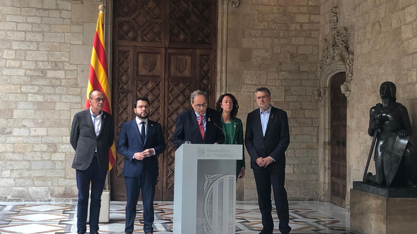 """Torra reclama a Sánchez a obrir un diàleg de """"forma immediata"""" per resoldre el conflicte amb Catalunya"""