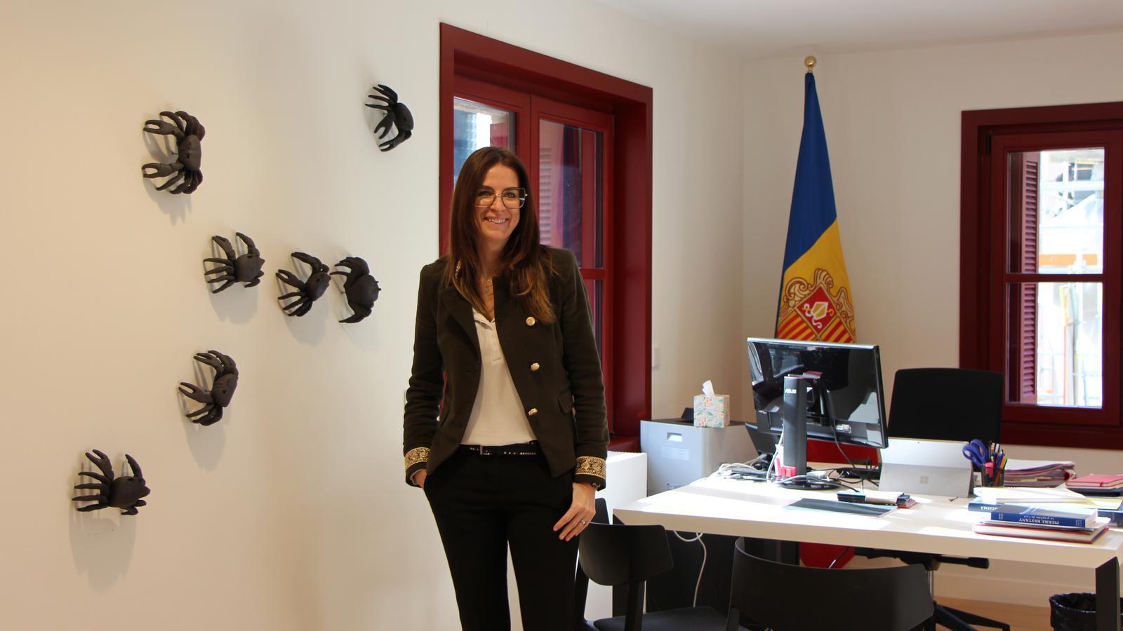 Sílvia Riva en el seu nou despatx al Rosaleda. / A.S. (ANA)