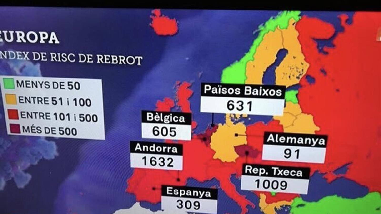 El mapa de TV3 que avergonyeix Andorra