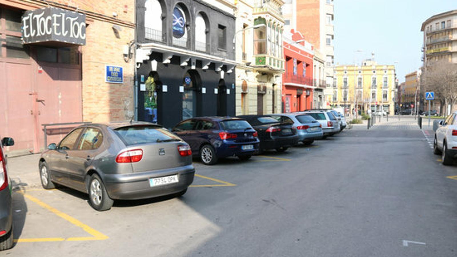 Zona de bars on han tingut lloc els fets