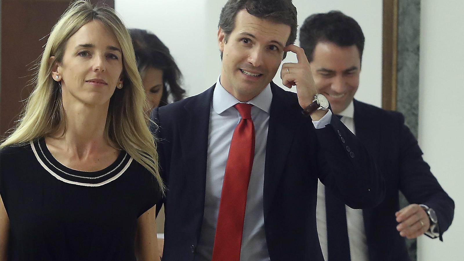 La portaveu del PP al Congrés, Cayetana Álvarez de Toledo, i el líder del partit, Pablo Casado.