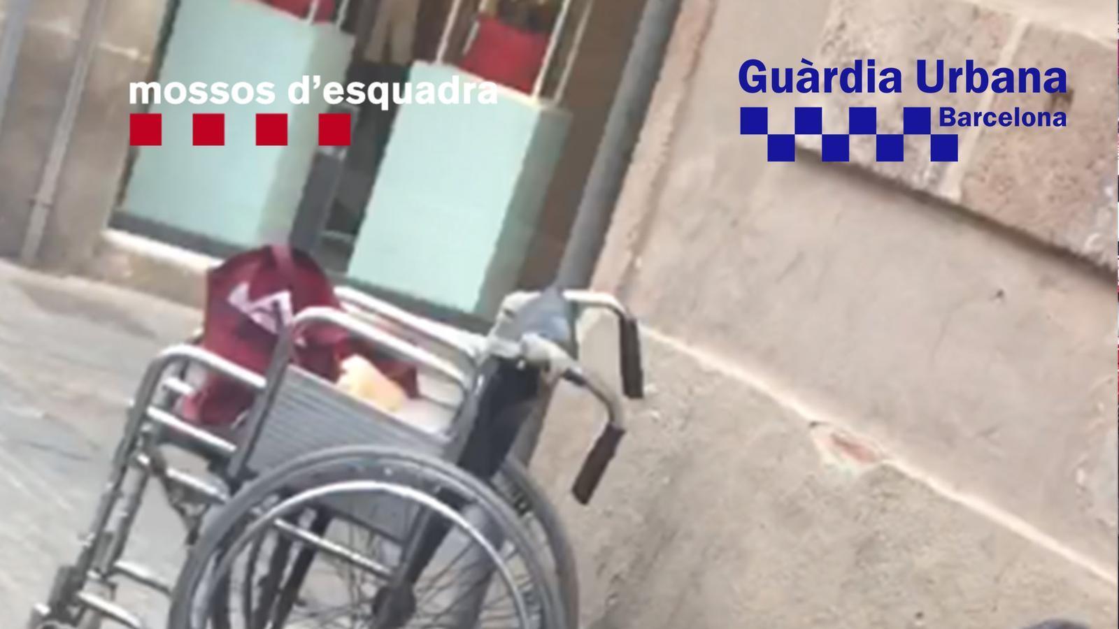 La víctima necessitava una cadira de rodes per moure's