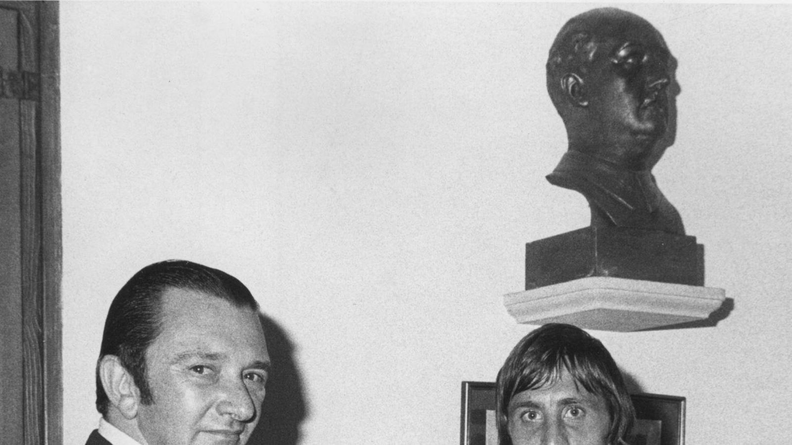Montal i Cruyff, aterrat al Barça el 1973