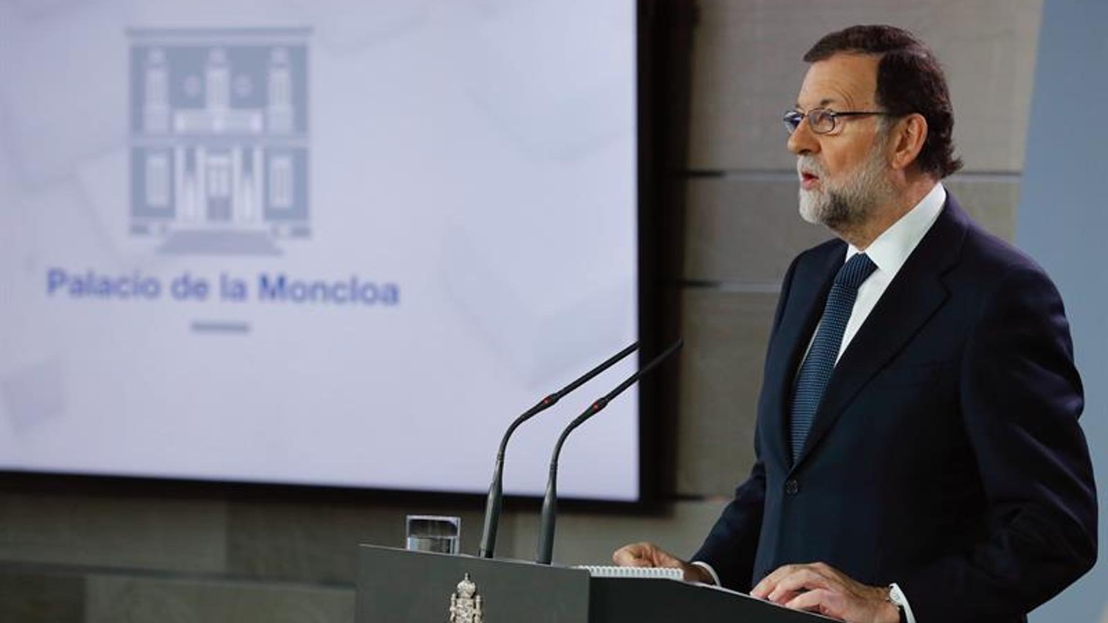 Compareixença de Mariano Rajoy a la Moncloa