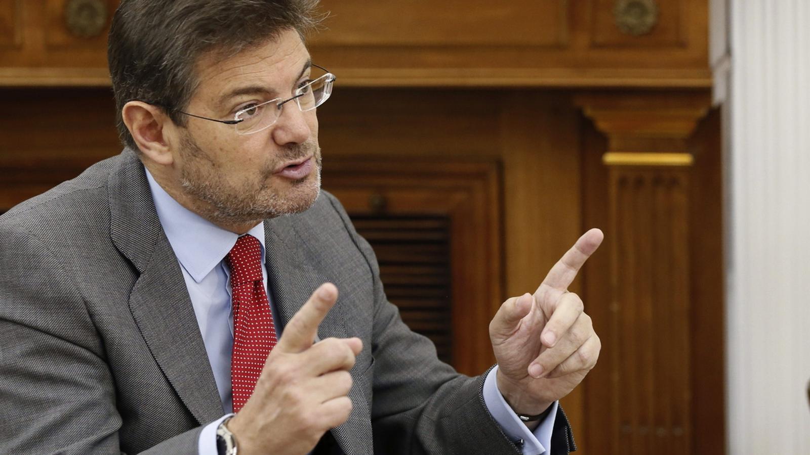 El ministre de Justícia, Rafael Catalá / EFE