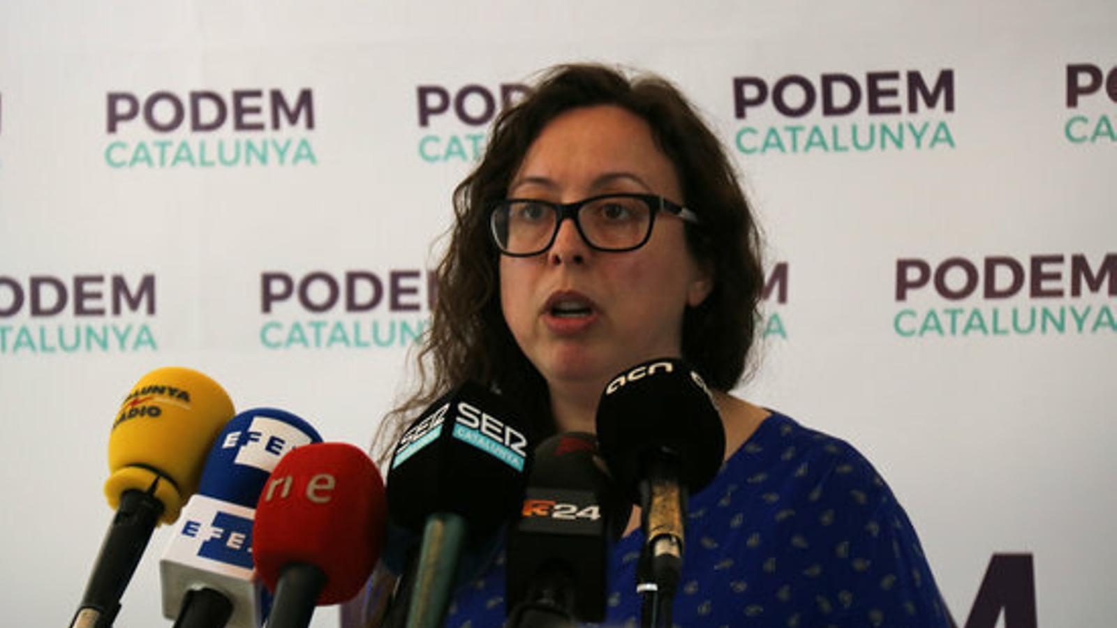 L'actual secretària general de Podem Catalunya, Noelia Bail