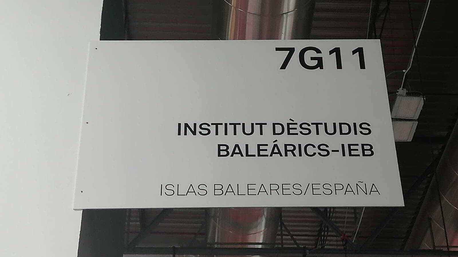 Imatge del cartell amb que ARCO anuncia l'Institut d'Estudis Baleàrics