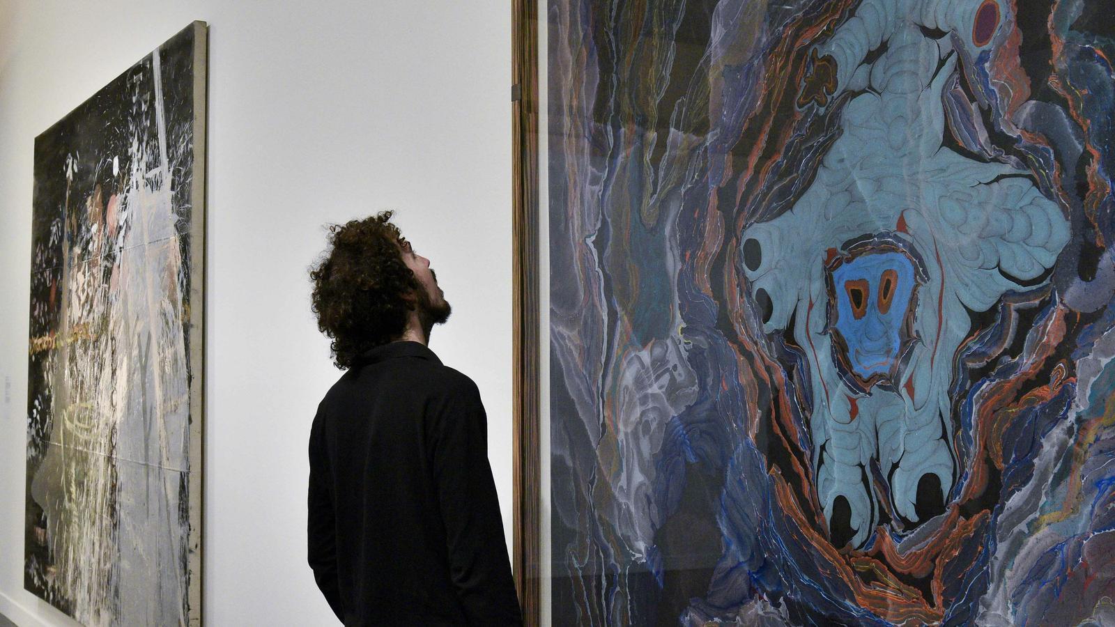 'Representació inestable talismànica d'un Schrättel (amb agraïment al mestre marbrejador Dirk Lange', de Kerstin Brätsch