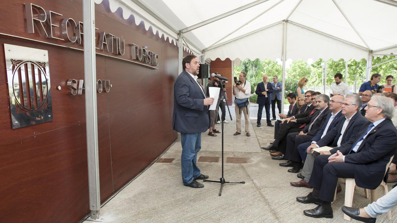 El vicepresident de la Generalitat, Oriol Junqueras, presentant el projecte Centre Recreatiu Turístic, que substitueix BCN World a Salou