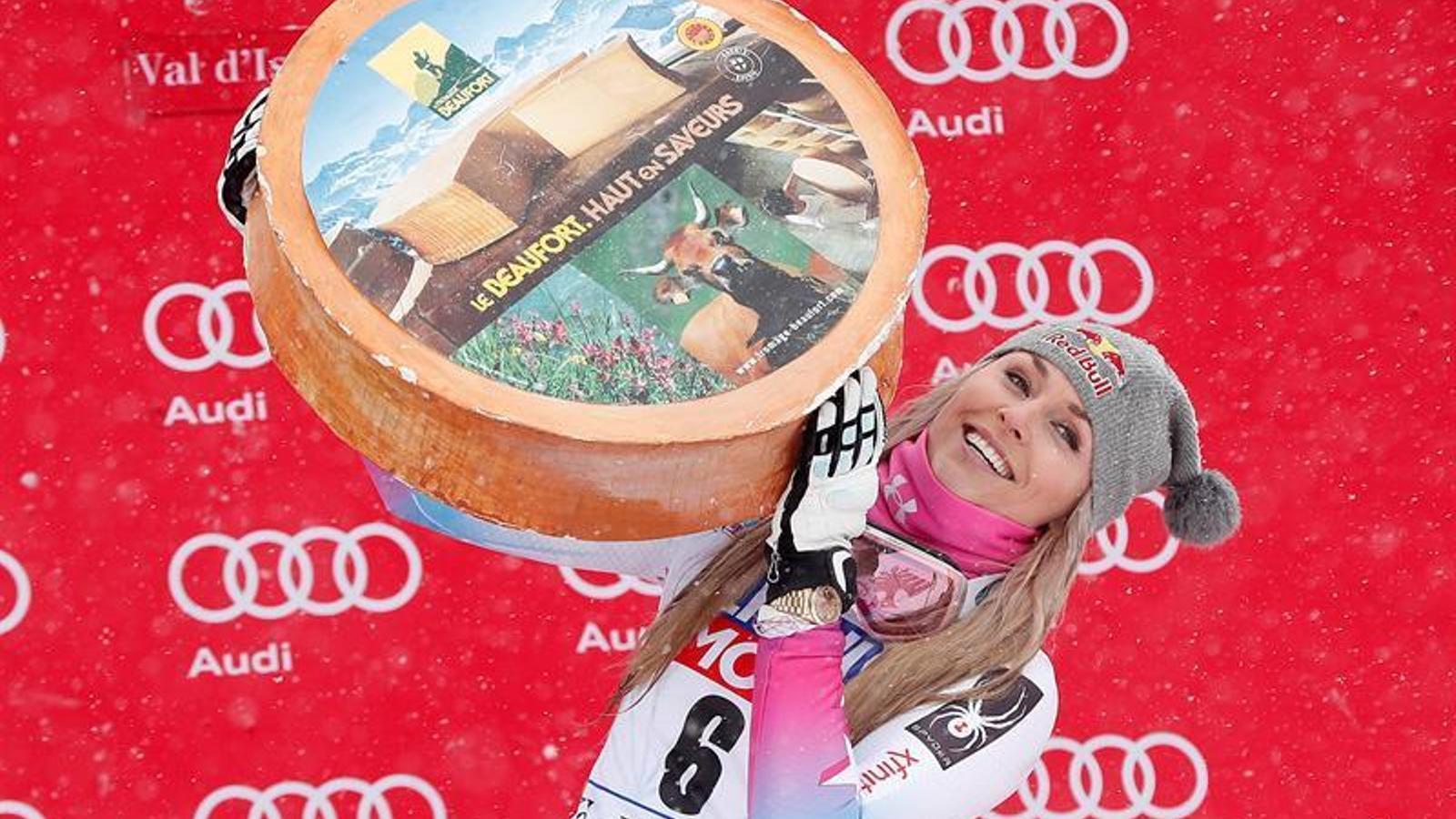 Lindsey Vonn segueix escrivint la seva llegenda i ja porta 78 triomfs en la Copa del món d'esquí