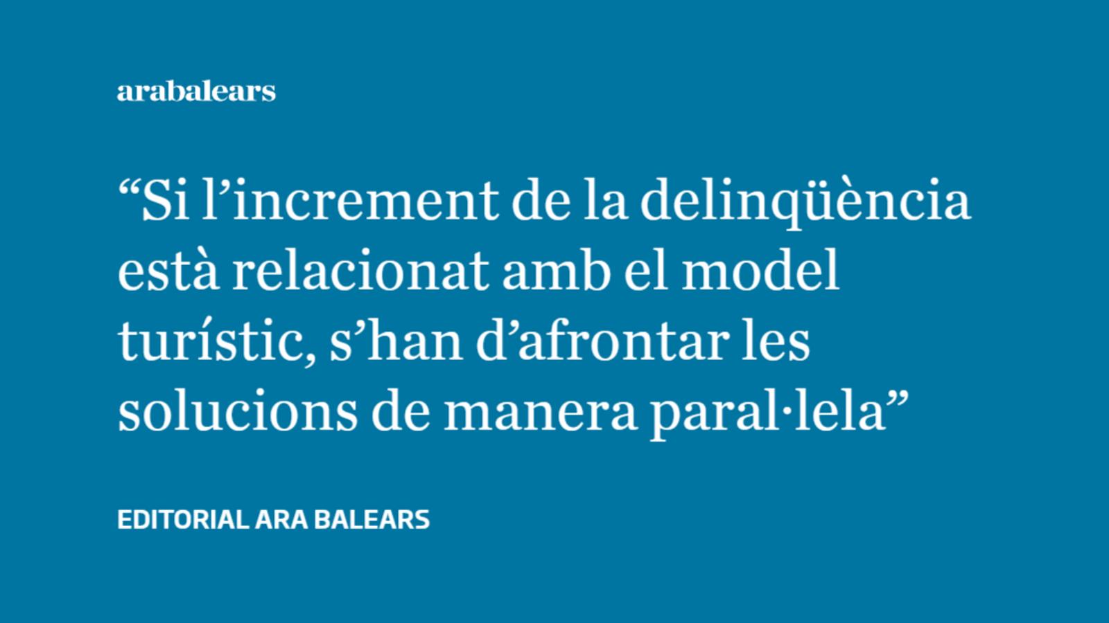 L'augment del turisme i de la criminalitat van de la mà a les Balears