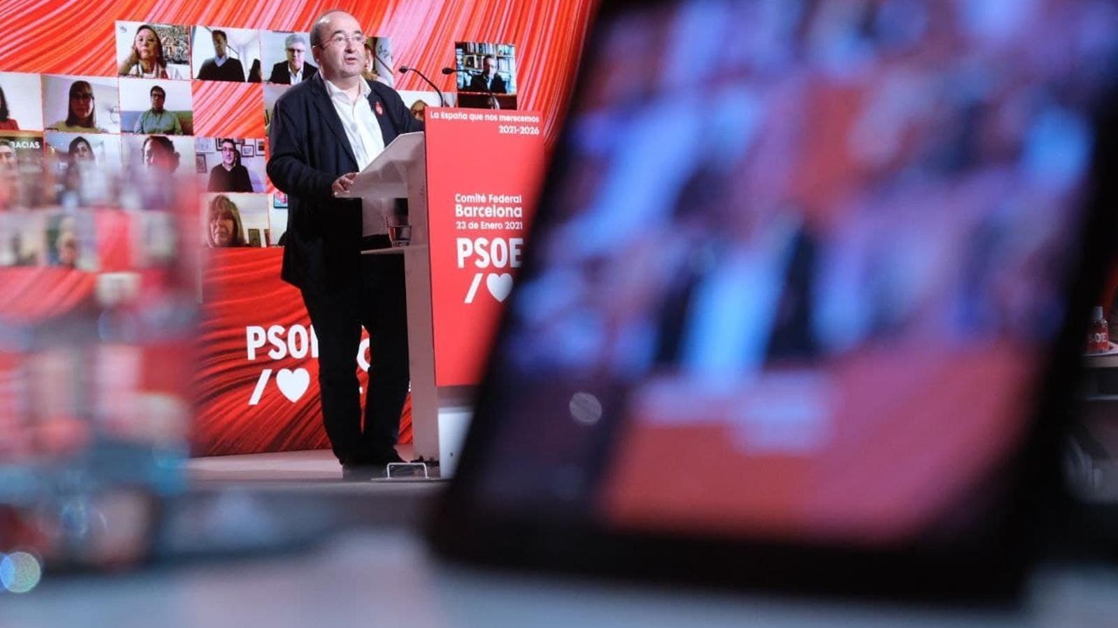 El primer secretari del PSC, Miquel Iceta, aquest dissabte.