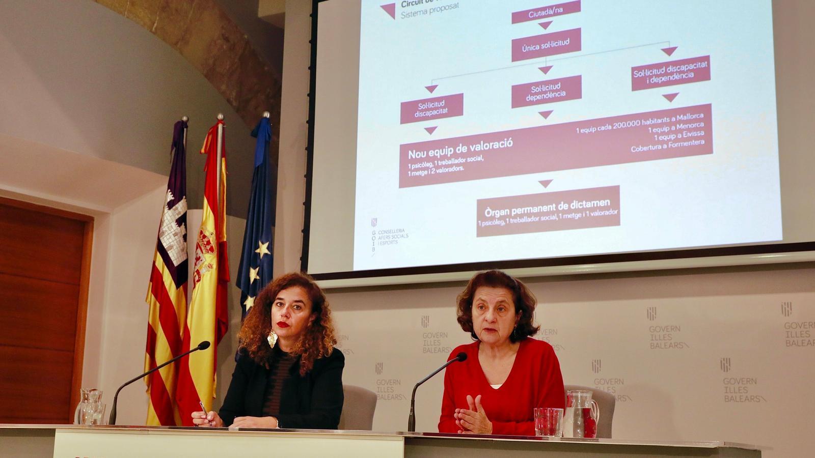 La consellera d'Afers Socials, Fina Santiago, aquest divendres després del Consell de Govern