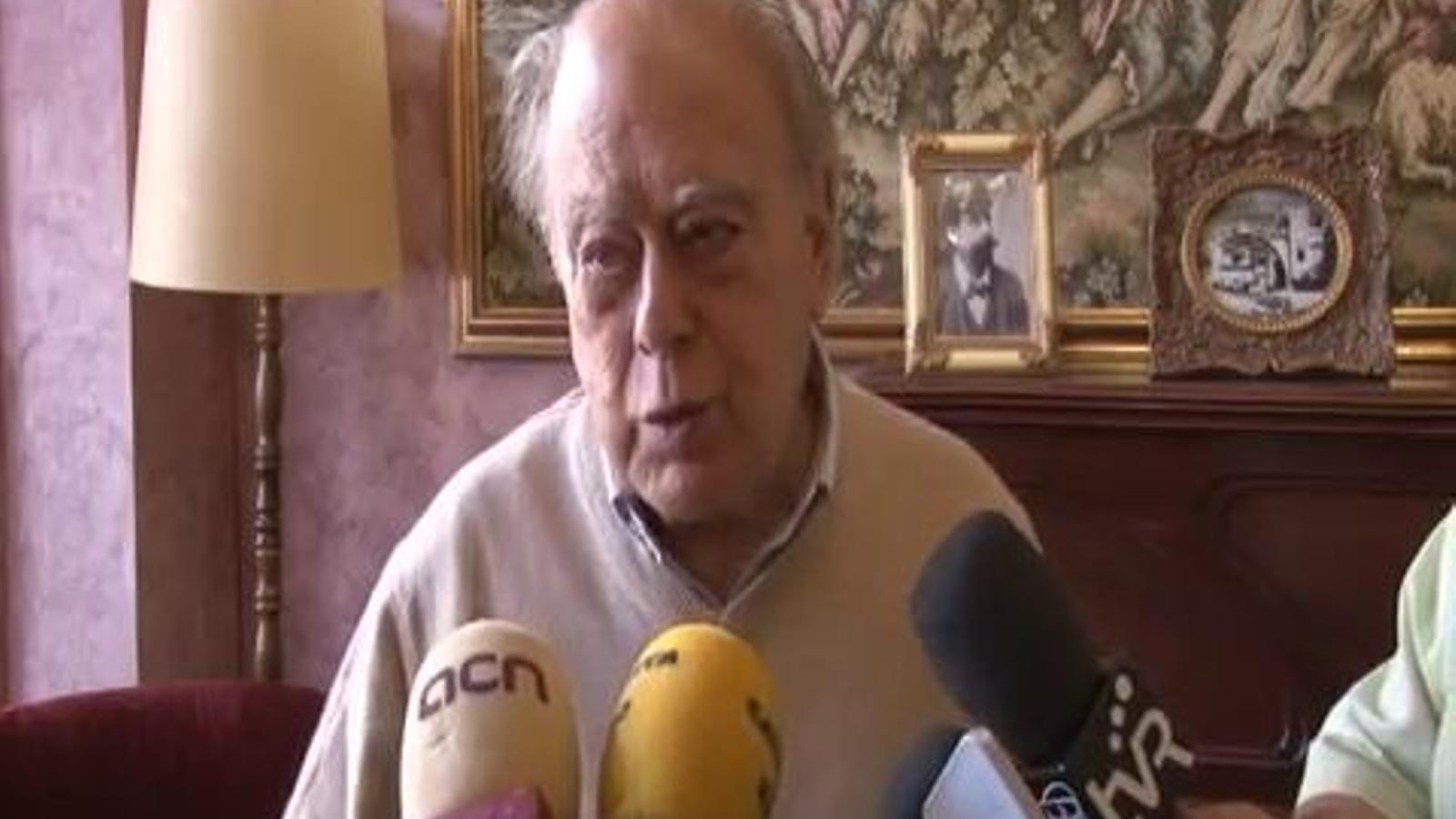 El que pensa Jordi Pujol de la manifestació de la Diada i de la posició d'Artur Mas